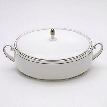 "Vera Wang - for Wedgwood ""Blanc Sur Blanc"" Covered Vegetable Bowl"