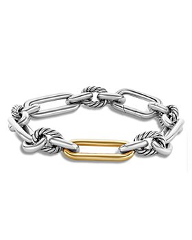 David Yurman - 18K Yellow Gold & Sterling Silver Lexington Large Link Bracelet