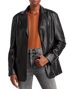 Bagatelle. nyc Faux Leather Blazer