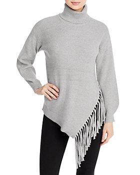 Cupio - Fringed Turtleneck Sweater