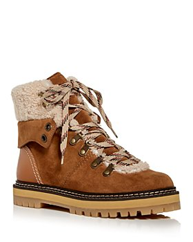 See by Chloé - Women's Eileen Shearling Trim Hiking Boots