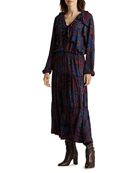 Ralph Lauren - Paisley Georgette Long Sleeve Dress