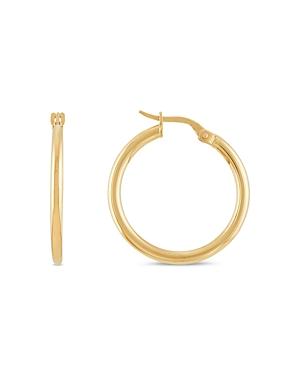 14K Yellow Gold Polished Hoop Earrings