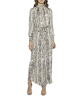 Gracia - Snake Print Pleated Maxi Dress (39% off) - Comparable value $115