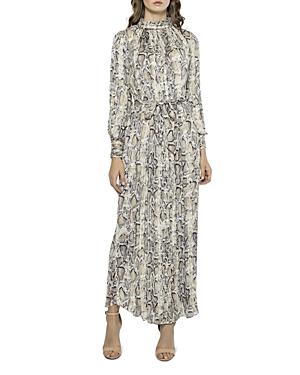 Snake Print Pleated Maxi Dress (39% off)