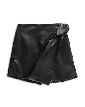 Habitual Kids - Girls' Faux Leather Mock Wrap Skort - Big Kid