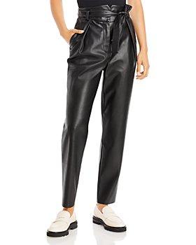 AQUA - Faux Leather Paperbag Pants - 100% Exclusive