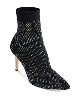 Badgley Mischka - Women's Dierdra Pointed Toe Embellished High Heel Booties