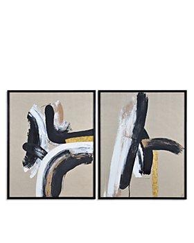 "Ren-Wil - Ilya Abstract Canvas Wall Art, 40"" x 50"", Set of 2"