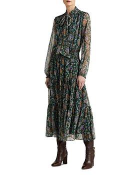 Ralph Lauren - Ascot Print Georgette Dress