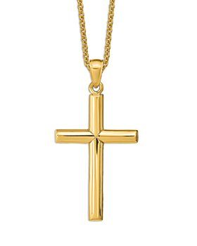 """Bloomingdale's - Polished Cross Pendant Necklace in 14K Yellow Gold, 20"""" - 100% Exclusive"""
