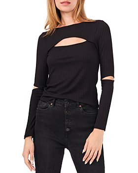1.STATE - Ribbed Cutout Top