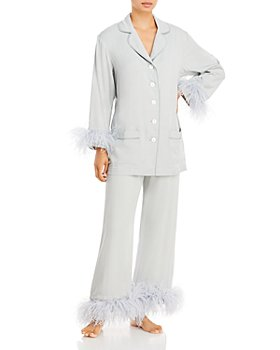 Sleeper - Party Feather Trim Pajama Set - 100% Exclusive