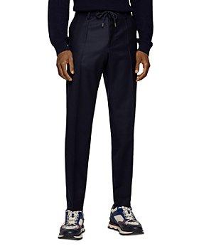 BOSS Hugo Boss - Genius Drawstring Flannel Slim Fit Trousers