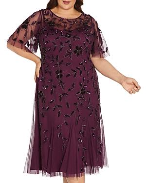 Embellished Flutter Sleeve Dress