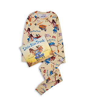 Hatley - Boys' Cotton Little Blue Truck Pajamas & Book Set - Little Kid