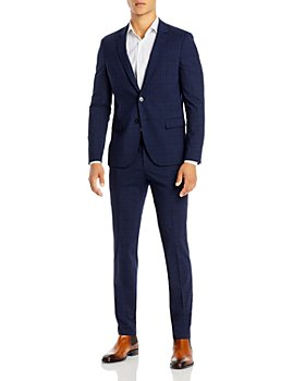 HUGO - Anfred212_WG & Heiron212_WG Tonal Plaid Extra Slim Fit Suit Separates