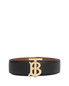 Burberry - Women's Monogram Motif Leather Belt