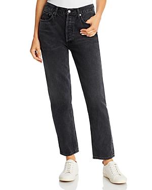 Agolde Fen High Rise Straight Leg Jeans in Shambles