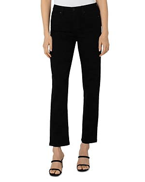 High Rise Slim Jeans in Stay Black