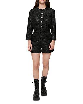 Maje - Sequin Tweed Romper