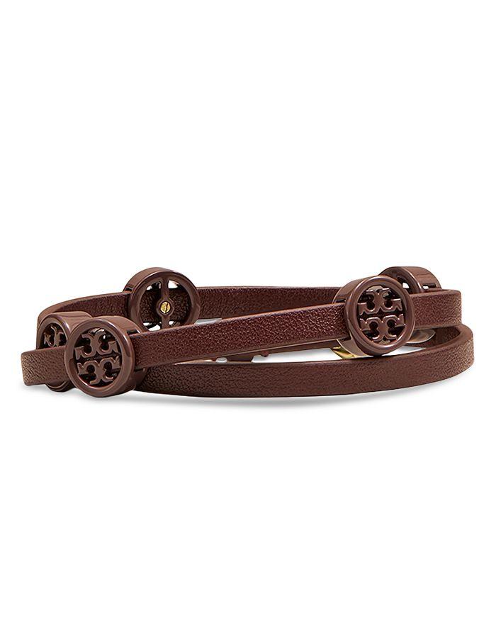 Tory Burch - Miller Logo & Leather Wrap Bracelet
