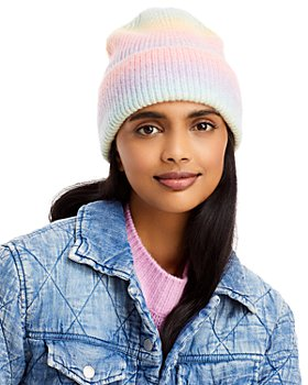 AQUA - Space Dye Rib Knit Cuff Hat - 100% Exclusive