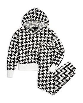AQUA - Houndstooth Sweatshirt & Jogger Pants, Big Kid - 100% Exclusive