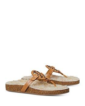 Tory Burch - Women's Miller Cloud Shearling Thong Sandals