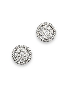 Diamond Cluster Earrings Set In 14K White Gold, 0.30 ct. t.w. - 100% Exclusive - Bloomingdale's_0