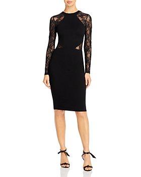 FRENCH CONNECTION - Viven Lace Illusion Cutout Dress