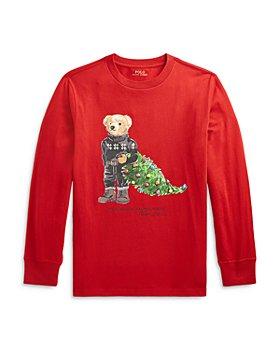Ralph Lauren - Boys' Holiday Bear Cotton Tee - Little Kid, Big Kid