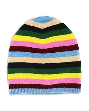 Sweet Stripe Cashmere Beanie