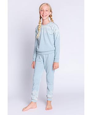 Pj Salvage Unisex Snowflake Print Pajama Set - Big Kid