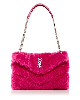 Saint Laurent - Puffer Small Quilted Shearling Shoulder Bag