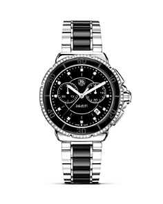 "TAG Heuer - ""Formula1"" Ceramic & Steel Chronograph Watch with Diamonds, 41mm"