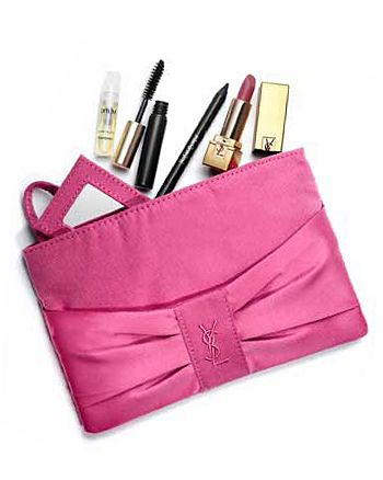 Yves Saint Laurent - Look & feel glamourous with these deluxe samples of  must-haves included in a gorgeous pink clutch - all yours with a purchase of $90 or more from Yves Saint Laurent
