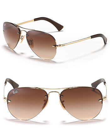 a4c7f694ff Ray-Ban - Unisex Rimless Aviator Sunglasses