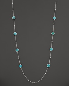"""IPPOLITA - IPPOLITA Sterling Silver Rock Candy Mini Lollipop and Ball Necklace in Turquoise, 37"""""""