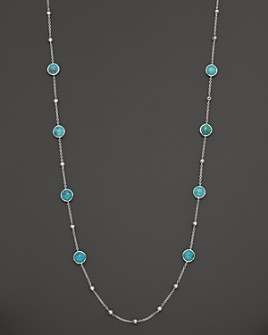 IPPOLITA - IPPOLITA Sterling Silver Rock Candy Mini Lollipop and Ball Necklace in Turquoise, 37""