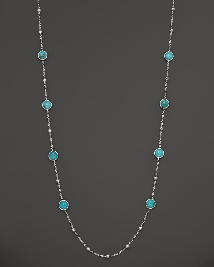 """IPPOLITA - Sterling Silver Rock Candy Mini Lollipop and Ball Necklace in Turquoise, 37"""""""