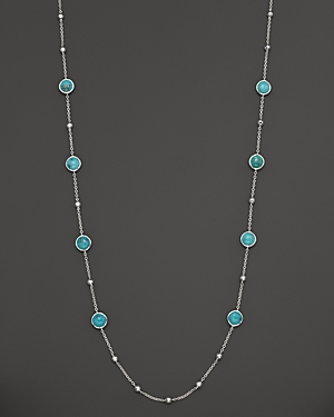 Ippolita Sterling Silver Rock Candy Mini Lollipop and Ball Necklace in Turquoise, 37