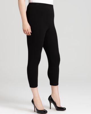 KAREN KANE PLUS Stretch Capri Pants in Black