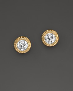 Diamond Milgrain Stud Earrings in 14K Yellow Gold, 0.25 ct. t.w. - Bloomingdale's_0