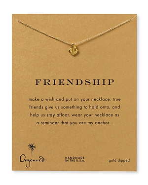 Dogeared Friendship Anchor Necklace, 18