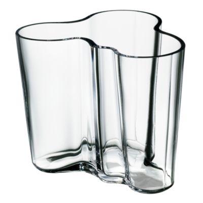 """Aalto 4.75"""" Clear Vase by Iittala"""