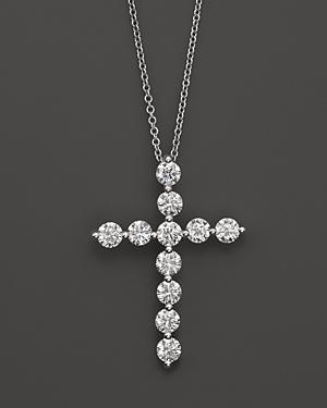 Diamond Cross Pendant in 18K White Gold, 1.5 ct. t.w. - 100% Exclusive