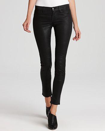 J Brand - Coated Skinny Jeans in Black