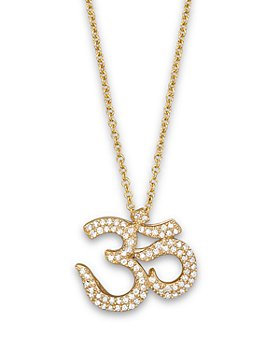 Bloomingdale's - Diamond Ohm Pendant in 14K Yellow Gold, .25 ct.- 100% Exclusive