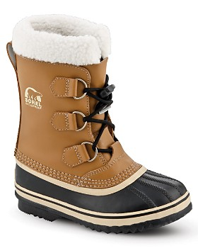 Sorel - Unisex Yoot Pac Leather Cold Weather Boots - Little Kid, Big Kid